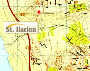 St. Ilarion Villas location maps